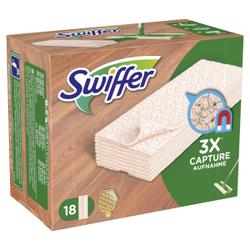 Swiffer Holz & Parkett, Staubtücher für Holz- und Laminatpflege, 1 Packung = 18 Staubtücher