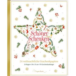 Geschenkpapier-Buch - Schöner schenken. 24 weihnachtliche Geschenkpapiere