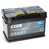 EXIDE EA722 Premium Carbon Boost Autobatterie 12V 72Ah 720A