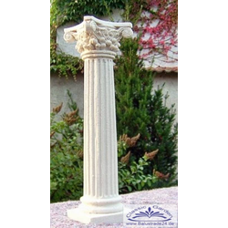 Kleine Kunststein Säule für Teelicht oder Kerze als Tischdekoration Kerzenständer Säule mit korinthischem Kapitell 20cm