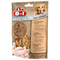 8in1 Meaty Treats Gefriergetrocknete Fleisch-Snacks 100% Hähnchenbrust 50 g
