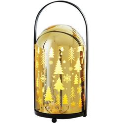 LED Laterne Shine, mit 10 warmweißen LEDs, Höhe 23,5 cm