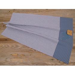 matches21 HOME & HOBBY Geschirrtuch Geschirrtuch Landhaus Premium Karo, Punkte, Herz 70x50 cm, (1-tlg) blau