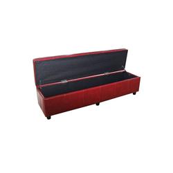 MCW Sitzbank Kriens-XXL-B-K, Stabiler Stand, Mit Aufbewahrungsfach, Modernes Design rot 112 cm x 45 cm x 45 cm