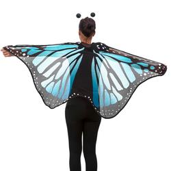 Schmetterlingsflügel Umhang Schmetterling Kostüm Karneval - blau