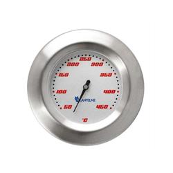 Lantelme Grillthermometer 450 Grad Grill - BBQ Thermometer, 2-tlg., Kugelgrill Einbau, Nachrüsten, Ersatzthermometer