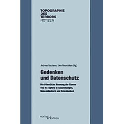 Gedenken und Datenschutz - Buch