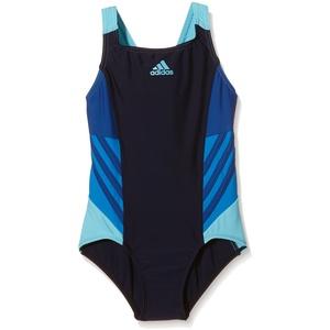 adidas Mädchen Badeanzug I INS 1PC G, Schwarz/Blau, 116, 4056562002422