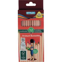 Farbstift Stylex 12 lange Buntstifte Naturholz aus FSC-Holz 26005