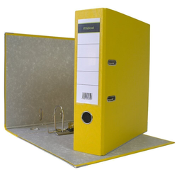 DIN A4 Aktenordner 8 cm PP Kunststoff Gelb