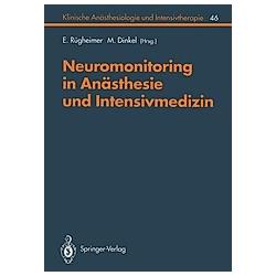 Neuromonitoring in Anästhesie und Intensivmedizinc - Buch