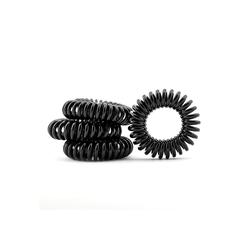 MyBeautyworld24 Spiral-Haargummi Haargummi im Telefonkabel Design (Kunststoff-Spirale) im 4er Set in der Farbe schwarz