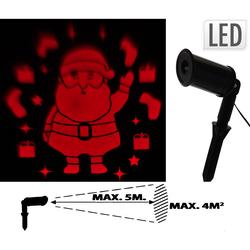 Nikolaus Weihnachtsmann LED Projektor - bis zu 4m² Fläche Weihnachtsbeleuchtung
