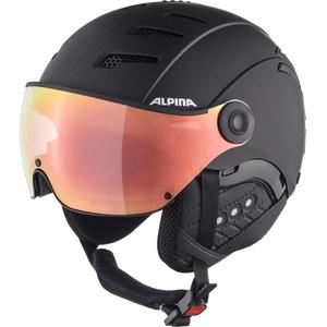 ALPINA JUMP 2.0 HM Skihelm, Unisex – Erwachsene, black matt, 55-58
