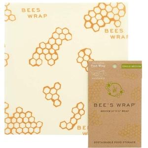 BEE'S WRAP Bienenwachstuch (Medium) - Die umweltfreundliche Alternative zu Plastikfolie