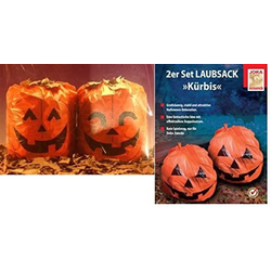 JOKA international Laubschutznetz Halloween Laubsack Kürbis, 8 Säcke (2er Set - 4 Packungen), Laubsack Kürbis, Halloween + Herbstdekoration