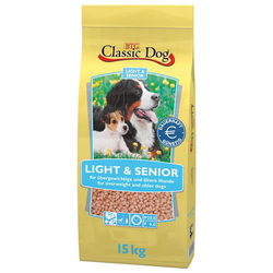 (1,54 EUR/kg) Classic Dog Classic Light & Senior 15 kg