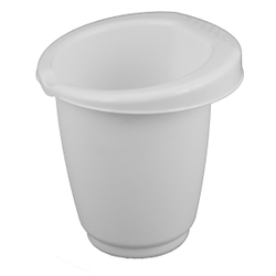 Gies greenline Rührbecher, 1 Liter, Schüssel zum Umrühren mit Gummiring, Maße: Ø 15,5 x 16 cm, weiß