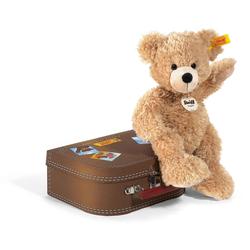 Steiff - Teddybären - Teddybären für Kinder - Fynn Teddybär im Koffer beige 28cm
