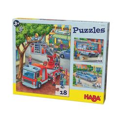 Haba Puzzle HABA 302759 Puzzles - 12/15/18 Teile - Polizei,, Puzzleteile