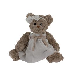 Bukowski Kuscheltier Teddybär Bella Luna mit Kleid 40 cm grau (Teddydame Teddybärin, Teddys Teddybären)