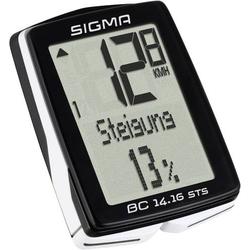 Sigma BC 14.16 ALTI STS CAD Fahrradcomputer, kabellos Codierte Übertragung mit Radsensor, mit Tritt