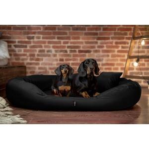 tierlando Tierbett tierlando® Orthopädisches Hundebett Sammy VISCO, Polyester, XL - XXXXL, schwarz 140 cm x 105 cm