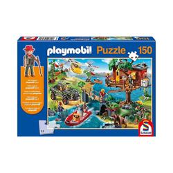 Schmidt Spiele Puzzle Puzzle Playmobil (inkl. Figur), Baumhaus, 150, Puzzleteile