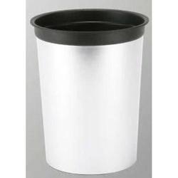 Papierkorb Leto ohne Ring 17 Liter silber