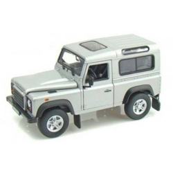 Welly Landrover Defender silber 1:24 Modellauto