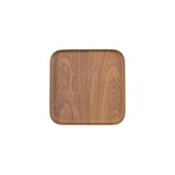 Heirol Teller / Tablett aus Bambus 21 cm