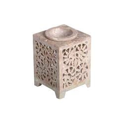 Casa Moro Duftlampe Orientalische Duftlampe Shiva-1 aus Soapstone geschnitzt 8x8x11 cm (B/T/H) ätherisches Öl Diffusor, Teelicht-Halter für Aromatherapie, Handmade Aromalampe, SL3070