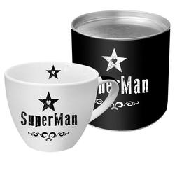 PPD Tasse SuperMan Black 450 ml, New Bone China