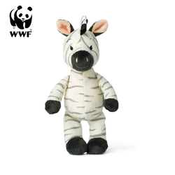 WWF Plüschfigur Cub Club - Ziko das Zebra (weiß, 22cm)