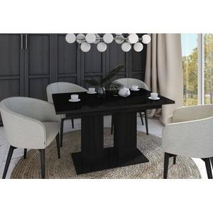 designimpex Esstisch Design Esstisch Tisch DE-1 Schwarz Hochglanz ausziehbar 130 bis 170 cm schwarz