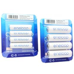 Sanyo eneloop Kombipack 4x AA Mignon + 4x AAA Micro Batterien, neu jetzt von Panasonic