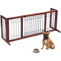 COSTWAY Hundegitter Absperrgitter, Treppengitter Schutzgitter, Türschutzgitter Kindergitter, Hundeabsperrgitter 101-181 cm