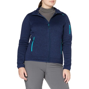 CMP Damen Knit Tech Fleece Jacket Jacke, Marine-Ceramic, D38