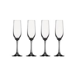 SPIEGELAU Gläser-Set Vino Grande Sektkelch 4er Set, Kristallglas