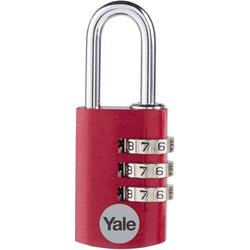 YALE YE3CB/20/121/2/CO Vorhängeschloss 20mm 2er Set Rot Zahlenschloss