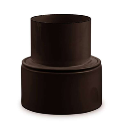 Ofenrohr Reduzierung Ø 150 mm > Ø 100 mm emailliert Braun