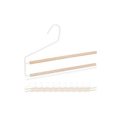 relaxdays Mehrfach-Kleiderbügel Hosenbügel platzsparend 12 Stück