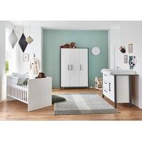 arthur berndt Babyzimmer-Komplettset Liam, (Set, 3-St), Made in Germany; mit Kinderbett, Schrank und Wickelkommode