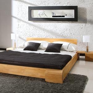 """Massivholzbett """"Arrondo"""" - Größe: 180x200 cm - Holzart: Buche"""