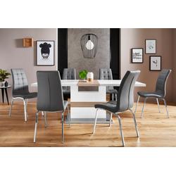 Essgruppe Perez/Lila, (Set, 5-tlg), mit 4 Stühlen, Tisch ausziehbar, Breite 160-200 cm weiß