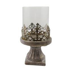 Parts4Living Windlicht Zement Windlicht Kerzenhalter Kerzenständer mit Glaseinsatz 22 cm