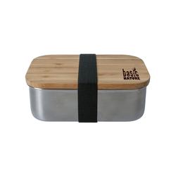 BasicNature Lunchbox 'Bamboo' Edelstahl 0,8 L