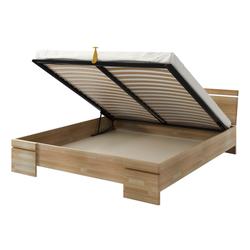 Łóżko Lopar z drewna bukowego z pojemnikiem na pościel