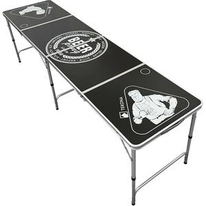 TEKONA Beer Pong Tisch Set - inkl. 100 Becher (Rot & Blau) & 6 Bälle - Beerpong