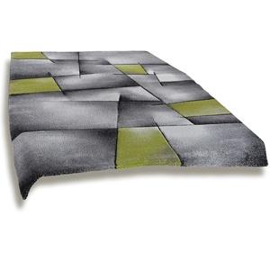 Frisee-Teppich MODERN - grau-grün - 160x230 cm